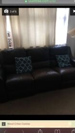 Brown leather sofa for quick sale