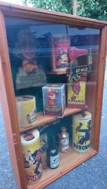 VINTAGE FRENCH ADVERTISING DISPLAY CABINET