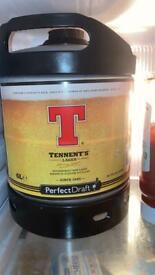 Perfect draft tennents keg
