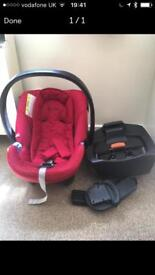 Car seat and isofix