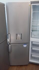BEKO FROST FREE FRIDGE FREEZER IN SILIVER WITH WATER DESPENSEE