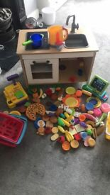 Ikea play kitchen and food