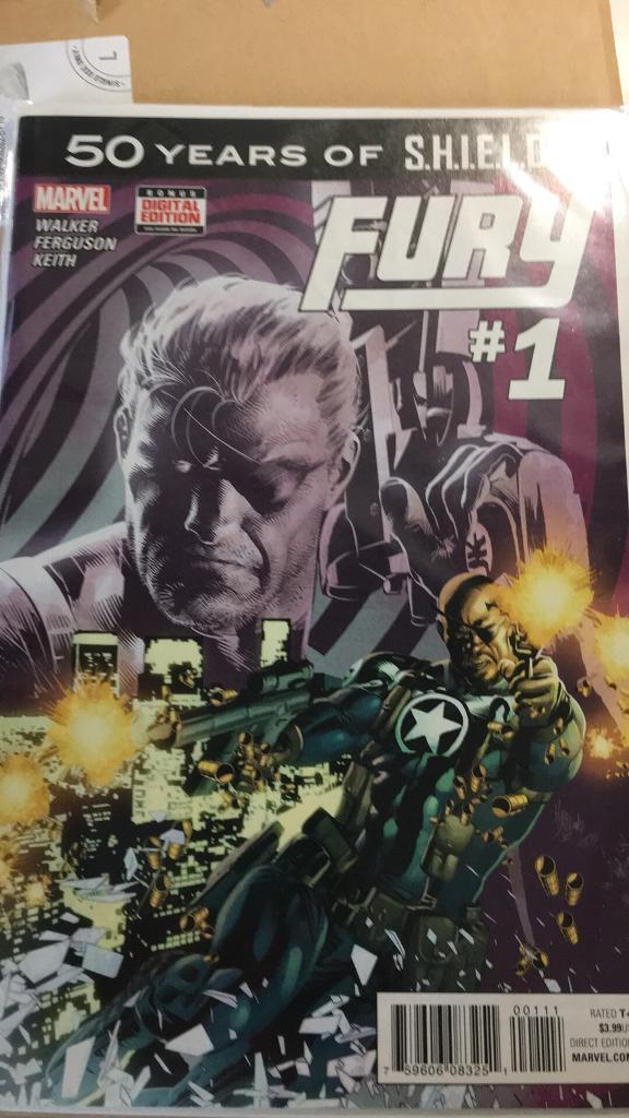 Marvel comic shield fury