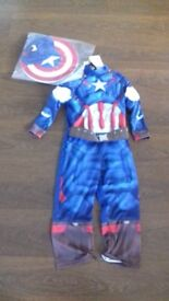Kids Captain America costume. Size 5-6 years. Avengers. New with tags.