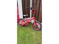 "Boys 14"" ka clro bike like new can diliver for a small charge"