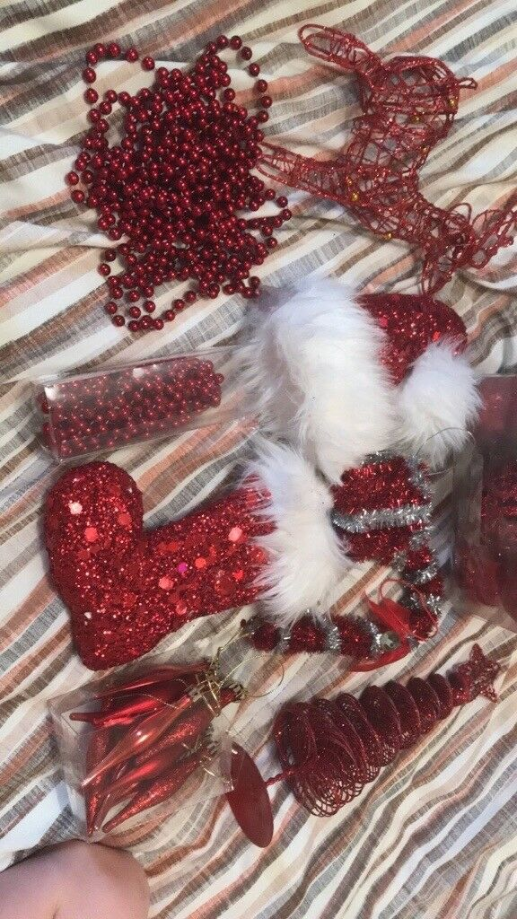 Red Christmas decoration bundle