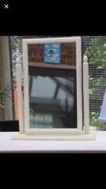 Lovely Off White Colour Wooden Mirror