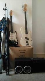 Music equipment.