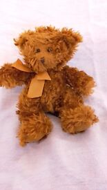Russ Berrie Honeyfitz Soft Cuddly Teddy Bear Comforter Brown with bow tie