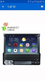 Single din flip screen android stereo