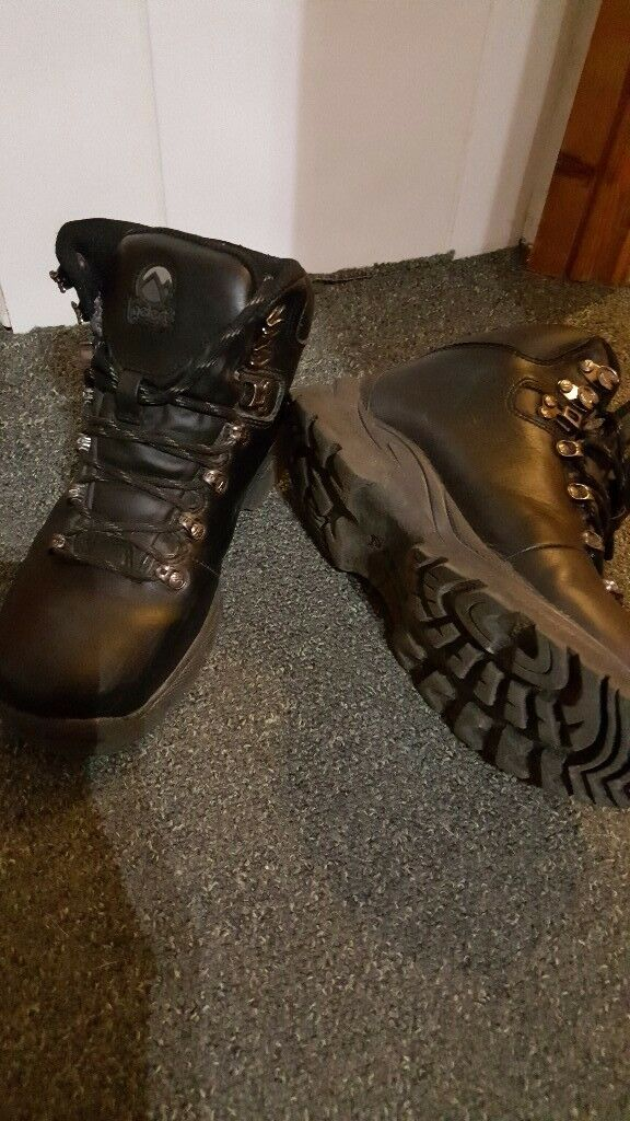 Black walking boots
