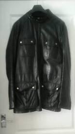 100% Leather Biker Style Jacket in Size M