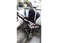 Petit star kurvi pushchair and car seat