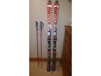 Salomon Crossmax skis, poles and ski bag with pilot system (PREMIUM SKIIS)