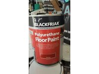 BLACKFRIARS POLYURETHANE FLOOR PAINT 5LTR 7 STD COLOURS AVAILABLE