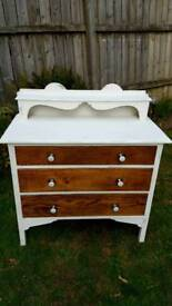 Distressed antique dresser