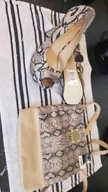 Heels and matching bag