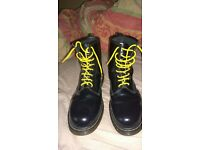 swap size 15 black doc martin boots for size 14 boots eg motor cycle boots or army boots