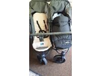 hauck roadster double buggy suitable from birth