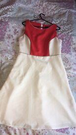 Dress. White and cream Dorothy Perkins dress