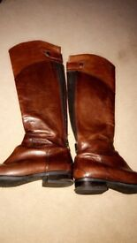 Clark Knee high boots brown leather