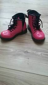 Pink dr martens child size 8