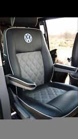 MINICAB/PRIVATE HIRE LEATHER CAR SEAT COVERS MERCEDES VITO CITREON C4 GRAND PICASSO VW TRANSPORTER