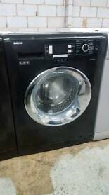 BLACK BEKO 8KG 1200 SPIN WASHING MACHINE WITH 3 MONTHS GUARANTEE