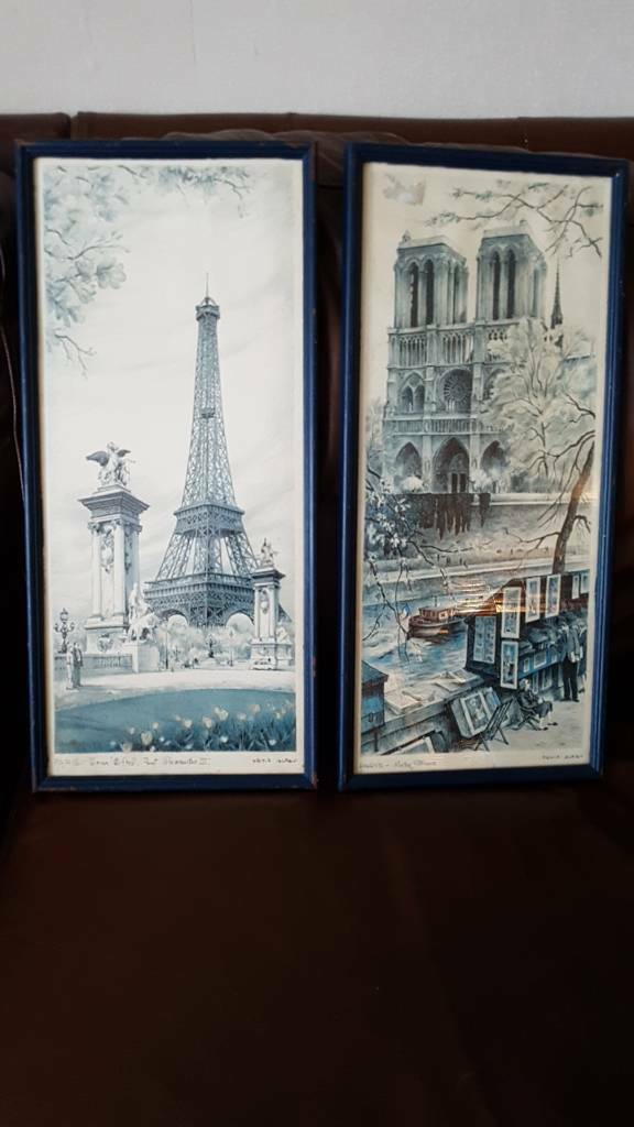 Pair of ORTIZ ALFAU PARIS Framed Prints