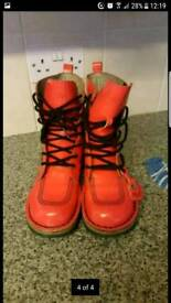 Original womens kickers boots size 4