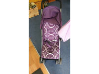 O'baby Purple Stroller Pram Pushchair Buggy in very good condition