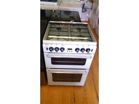 NEWHOME white 60 CM Gas Cooker with Grill and Oven
