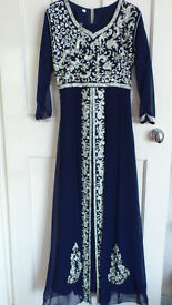 Embellished Blue Maxi dress