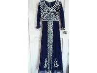 Embellished Blue Maxi dress