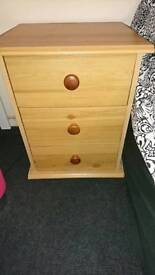 X2 matching pine bedside tables/drawers