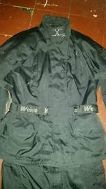 Mens motorbike jacket & trousers & boots
