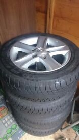 4 x winter tyres with alloy wheels