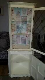 Shabby chic solid wood corner dresser