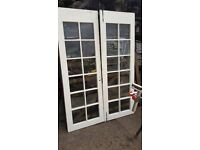 Pair of Wooden French glass doors