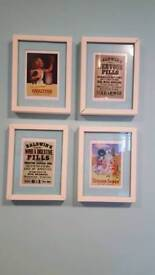 4 small picture frames