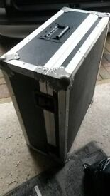 Large heavy duty flight case. 55cm X 67cm X 26cm. Can deliver locally if required