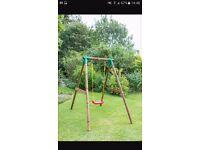 Little tikes wooden frame swing