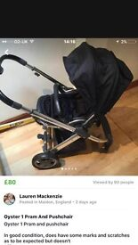 Oyster 1 Pram and pushchair £70 ono