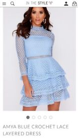 Pastel blue lace dress, In the Style