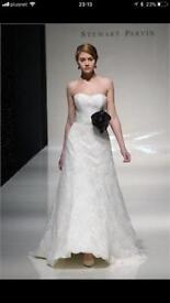 Stewart Parvin designer lace wedding dress