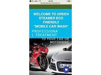 Mobile Car & Motorbike Wash , Steamer Wash.