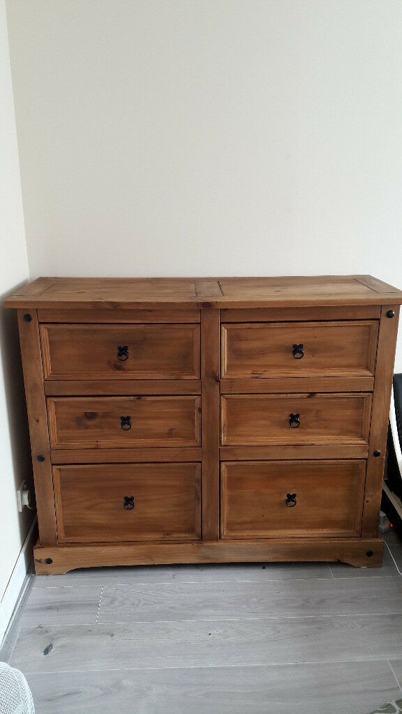 6 drawers sideboard storage cabinet chest mexican pine corona in Perth, Perth and Kinross
