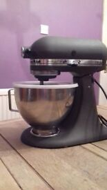 SOLD Kitchen Aid Mixer slate model KSM90 Power Ultra with bowl and 3 utensils