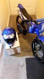 BOYS MOTORBIKE WITH MATCHING HELMET