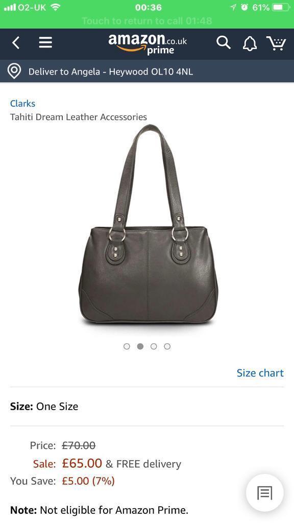 Clark s Tahiti dream leather handbag  504311f09293d